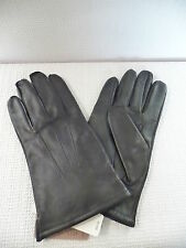 NEW J.CREW MENS CASHEMERE-LINED LEATHER GLOVES, 05828, SIZE L, BLACK, $98