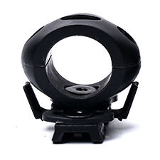 "Quick Release 1"" Flashlight Clamp Holder Mount for Helmet Rail Surefire Black"
