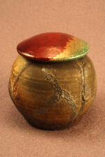 RAKU Unique Ceramic Companion Small/ Keepsake Funeral Cremation Urn #K003