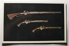Vintage Russian Postcard Flintlock Carbine And Pair Pistols 17 century