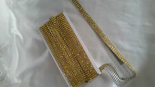 GOLD3mtr Diamante Bling Sparkling Diamond Effect Wedding Cake Craft Trim Ribbon