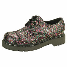 ANARCHIC BY T.U.K. 3 EYE GIBSON SHOE MULTI COLOR CHUNK GLITTER UK5/EU38