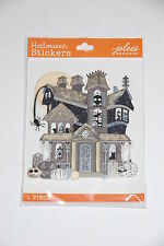 Jolee's Boutique BLACK & WHITE HAUNTED HOUSE Dimensional Stickers