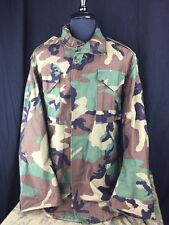 US MILITARY ISSUE M-65 FIELD JACKET COAT | WOODLAND CAMO | MEDIUM SHORT | NEW