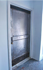 1930's Two Panel Steel Fire Door, Industrial door  restaurant security door
