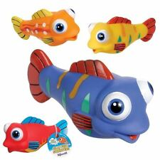 4 Silly Fish Water Squirters Fine Motor Water Table Bath Tub Toy Sensory Play
