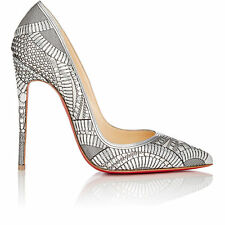 "*NEW* Christian Louboutin Sz 36 ""KRISTALI"" 120 Laser Cut Heels Pumps Shoes $1195"