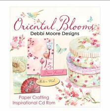 Debbie Moore Oriental Blooms Paper Craft Inspirational Cd-Rom