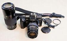 Vintage Minolta 7000 Maxxum 35mm SLR Camera w/ AF 28-85 & AF 70-210 Lens & More