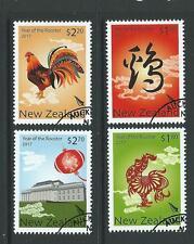Nouvelle-zélande 2017 année du coq set of 4 fine used