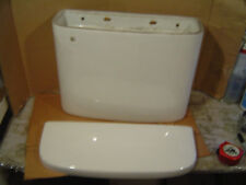 MATCHING LID INCLUDED!  Mystery wall hung toilet tank commode 20.5 x 7.75 WHITE
