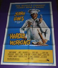 HARDLY WORKING MOVIE POSTER ORIG ONE SHEET JERRY LEWIS