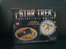 STAR TREK ANIMATED Collectible Watch NEW IN BOX ENTERPRISE CIRCLES + PLAYS MUSIC