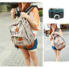 Unisex Men Girls Canvas Newspaper School Shoulder Bag Backpack Travel Satchel