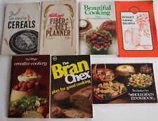 5 CEREAL OATS BRAN CORN COOKBOOK PROMO ADVERTISING RECIPE BOOKS + BONUS