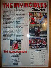 Arsenal Invincibles 2003-04 - souvenir print