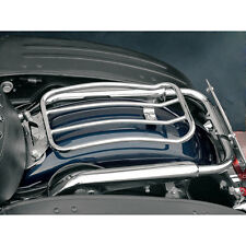 "Motherwell Chrome 7"" Solo Luggage Rack for 97-14 Harley Touring Models"