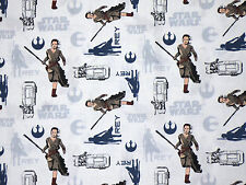 FAT QUARTER  STAR WARS THE FORCE AWAKENS  REY  LUCUSFILM  COTTON CAMELOTS FABRIC