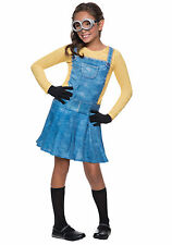 *BRAND NEW* Minion Halloween Costume Child Size FEMALE LARGE 8-10 Dress Up