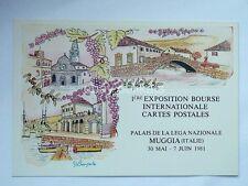 TRIESTE MUGGIA 1981 Esposizione FRANCOBOLLI CHIUDILETTERA cartolina 3