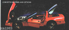 1985 Chevrolet CORVETTE Auto Dealer Sales Brochure