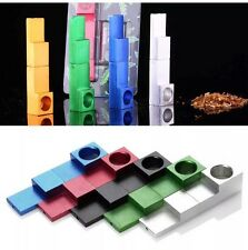 Metal Whistle Shape Magnetic SMOKING PIPE CHROME And 5 Screen