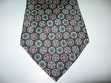 TIE Necktie 55 x 4 Blue Gray Red Silk OSCAR De La RENTA ~ FREE US SHIP (12606)