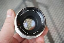 EARLY Carl Zeiss Jena Biotar 58mm f/2 lens Adapt to Digital Bokeh Germany Chrome