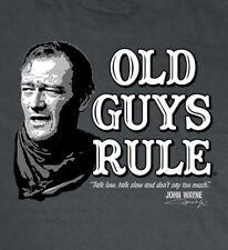 """OLD GUYS RULE JOHN WAYNE """" TALK LOW """" DUKE TRUE GRIT WESTERN XL"""