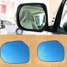 2pcs Power Heated w/Turn Signal Side View Mirror Blue Glasses For Toyota Prado