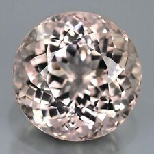 MORGANITE ROUND CUT 5  MM ALL NATURAL SOFT PINK