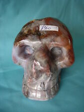 Crystal Skull large multi coloured agate geode