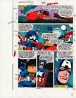 Original 1986 Captain America 324 page 9 Marvel Comics color guide art: 1980's