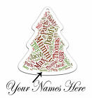 Personalised Family Xmas Names White Christmas Tree Ornament Decoration Gift