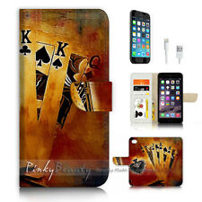 iPhone 6 6S Plus (5.5') Flip Wallet Case Cover P3458 Poker