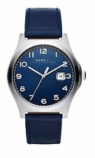 BRAND NEW MARC JACOBS MJ8670 JIMMY SILVER CASE NAVY BLUE DIAL & BAND MEN'S WATCH