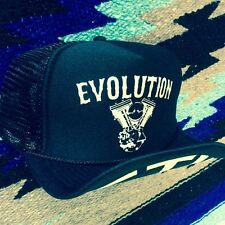 EVOLUTION TRUCKER HAT evo harley hd chopper ftw vtg frisco tank bobber biker