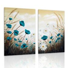 Modern Canvas Prints Home Decor Wall Art Painting Blue Daisy Flower Unframed New