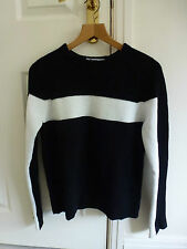 T By Alexander Wang Donna Lana, cashmere & cotone Nero/Bianco a Righe Maglione XS