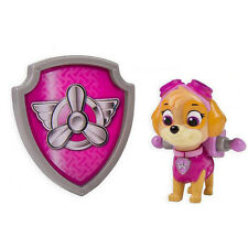 Hot Paw Patrol Action Pack Pup & Badge Shield Dog Backpack Projectile Toy - Skye
