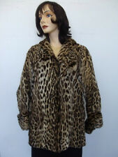 MINT VINTAGE SPOTTED MONTANA LYNX FUR JACKET COAT WOMEN WOMAN SIZE 10 MEDIUM