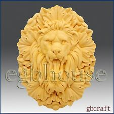 2D Silicone Soap Mold - Roaring Lion King - Free Shipping