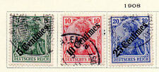 Germany - Selection from 1908 PO in Turkey set. Scott #55-57. USED