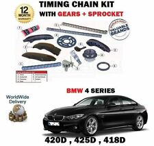Pour bmw série 4 420D xdrive 425D 2013 - > timing cam chain kit + gears