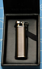 Tsubota Pearl Tall XL BOLBO Black Satin Flint Lighter Seki City, Japan Old Boy ☦