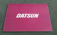 Jan 1977 DATSUN UK RANGE BROCHURE CHERRY SUNNY VIOLET BLUEBIRD LAUREL 280C 260Z
