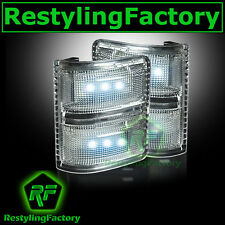 2008-2015 Super Duty Side Mirror Turn Lights WHITE LED CLEAR Lens Replacement