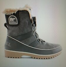 NIB Women's 6 Sorel Tivoli Boots Quarry Gray Waterproof Suede In Box #E2854