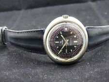 Rear  Automatic Techron YEMA Wristmaster Vintage Diver , Time Date  watch