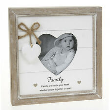 PROVENCE DARK CREAM HEART FAMILY PICTURE PHOTO FRAME SHABBY CHIC